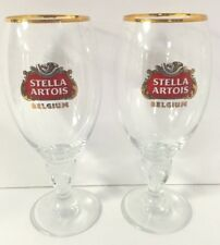 Stella Artois 50 cl Glass Chalice Belgium Beer - Set Of Two (2) Glasses - New
