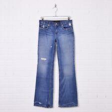 Juicy Couture Distressed Destroyed Bootcut 100% Cotton Denim Jeans Pants 27 x 33