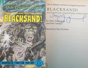 Blacksand ***MINT - SIGNED!!*** Puffin Advanced Fighting Fantasy #1