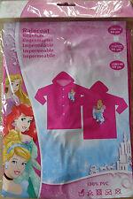 Disney Princess * Regenmantel *Regenjacke* 116/122 * Pink + Motiv * Neu *OVP