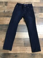 Lucky Brand - Cooper Slim - Boys Corduroy Pants - Dark Navy Blue Adj Waist - 12