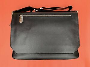 BRAND NEW DAVIDOFF VERY ZINO BLACK LARGE LEATHER BRIEFCASE 20050