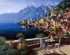 Home Art Wall Decor European Town Landscape Oil Painting Printed On Canvas L38