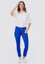 NYDJ Sheri Slim Ankle Jeans With Slit Blue BNWT Designer Womens Denim Trousers
