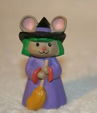 Halloween Hallmark Merry Miniature Witch Mouse with Broom 1993