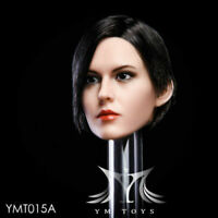 1/6 Female Head Sculpt PVC Toy YMTOYS Short Hair Fit 12'' TBleague PH Figure