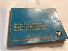 BMW R27 Instruction Manual 1962