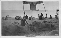 POSTCARD    DORSET  BOURNEMOUTH   BEACH  NOVELTY  IN    SAND   RP