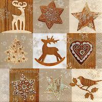 4 Motivservietten Servietten Napkins Tovaglioli Weihnachten Weihnachtsmix (958)