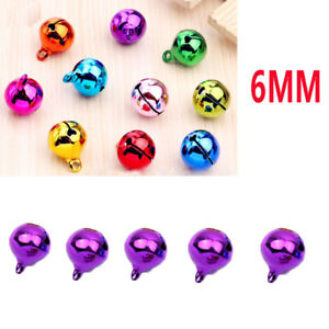 5Pcs 6mm universal Automotive Interior Pendants Metal Jingle Bells purple 1122-1
