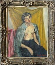 American 20th Century Oil Painting Portrait of a Woman by Rubi Roth (1905-1991)