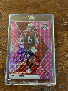 Steve Young Signed Mosaic Football Card Psa Dna Coa Autographed 49ers