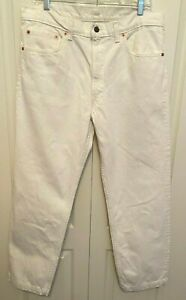 Vintage White Levi's Mens 550 Relaxed Fit Jeans Red Tab Tag 36 x 29