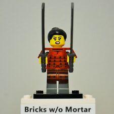 New Genuine LEGO Samurai Minifig with Shamshirs / Katanas Series 13 71008