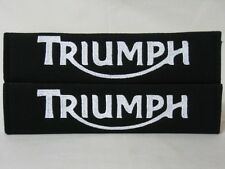 NEW Triumph Embroidery Seat Belt Cover Soft Harness Shoulder Pads Pair