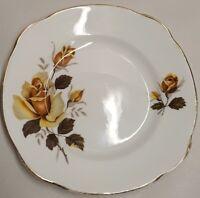 English A.T. Finney Duchess China Yellow Rose Bone China Side Plate c1960-62