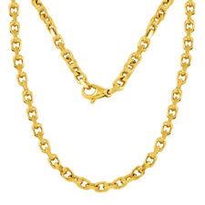 "14k Yellow Gold Handmade Fashion Link Chain Necklace 26"" 4.5mm 47-48 grams"