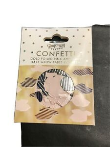 Ginger Ray Confetti Pink And Navy Baby Grow