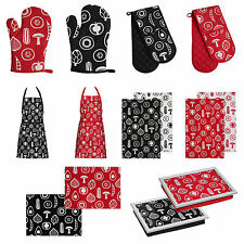 Premier Housewares 100 Cotton Besa Double Heat Resistant Oven Glove Holder Red