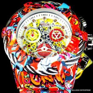Invicta Grand Bolt Zeus Graffiti Hydroplated Steel Orange Gems Swiss Watch New
