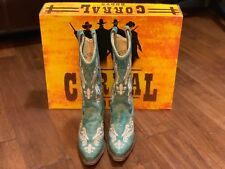 Corral Turquoise Blue Cortez Boots Size 5 1/2 cowgirl boots