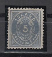 BB5618/ ICELAND – MI # 6B MINT NO GUM - CV 415 $