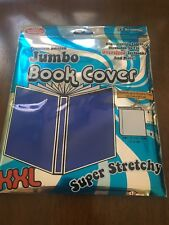 Jumbo Stretchable Textbook Book Cover-Blue