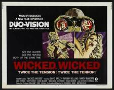 WICKED WICKED Movie POSTER 22x28 Half Sheet David Bailey Tiffany Bolling