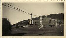 PHOTO ANCIENNE - VINTAGE SNAPSHOT - TÉLÉPHÉRIQUE MONT D'ARBOIS HAUTE SAVOIE 1952