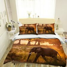 3D Sunny Trees Elephant R743 Animal Bed Pillowcases Quilt Duvet Cover Queen Kay