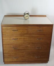 Vintage Retro Remploy Ex-Military Mahogany Formica Top Chest of Drawers [5692]