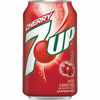 7up Cherry Fridge 12 Pack Cans Flavoured Soft Fizzy American Soda Drinks
