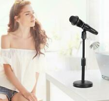 Foldable Desk Table Microphone Clip Stand Table Mic Adjustable Holder for Live