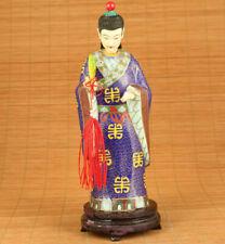 big antique old cloisonne handmade gentleman figure netsuke statue home deco