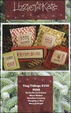 10% Off Lizzie Kate Counted x-stitch chart - Tiny Tidings XVIII -