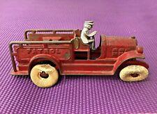 Antique Kenton Cast Iron Fire Patrol Truck with Driver 1920s