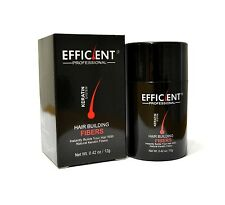 EFFICIENT Hair Loss Concealer Fibers 12g / 0.42oz BLACK for Receding Hairline