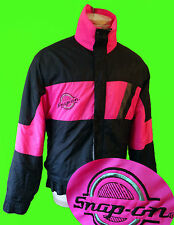 SNAP on TOOL vtg NEON dayglow PINK ski jacket racing patch 80s