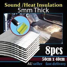 Heat Block Insulation Butyl Rubber Mats Sound Deadener Underfelt 8PCS 50cmx40cm