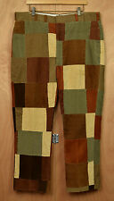 Vtg Murray's Toggery Shop Corduroy Patchwork Pants 40 x 28 Trousers Nantucket