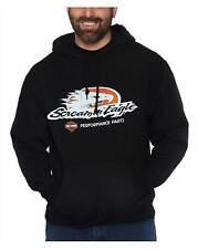 Harley-Davidson Men's Screamin' Eagle Pullover Poly-Blend Fleece Hoodie, Black