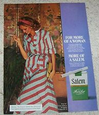 1975 ad page -Salem Cigarettes SEXY GIRL woman smoking tobacco Print Advertising