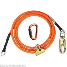 "Arborist Flipline Kit, 5/8"" X 10' Climb Right High Vis, Adjusteble & Carabiner"
