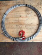 Cable de cabrestante y gancho 20 Mtrs X 9 mm recuperación/Off-Road