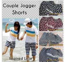 Set Couple Jogger Shorts - (Cars) Black