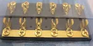 Sierra FS40600 Hot Feed Fuse Block 6 Gang Brass 4394