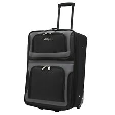 """New Yorker 21"""" Carry-on Lightweight Expandable Rolling Luggage Suitcase Bag"""
