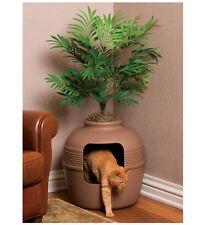 Hidden Cat Litter Box Furniture Pot Concealment Corner Houseplant Pet Toilet1