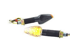 Pair of LED Carbon Look E-Marked Indicators for Motorbike Motorcycle Trike Quad