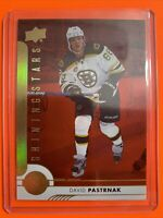 2017-18 Upper Deck Shining Stars Red #SSR-3 David Pastrnak Boston Bruins